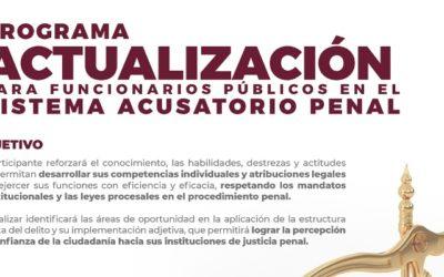 Programa Actualización para Funcionarios Públicos en el Sistema Acusatorio Penal