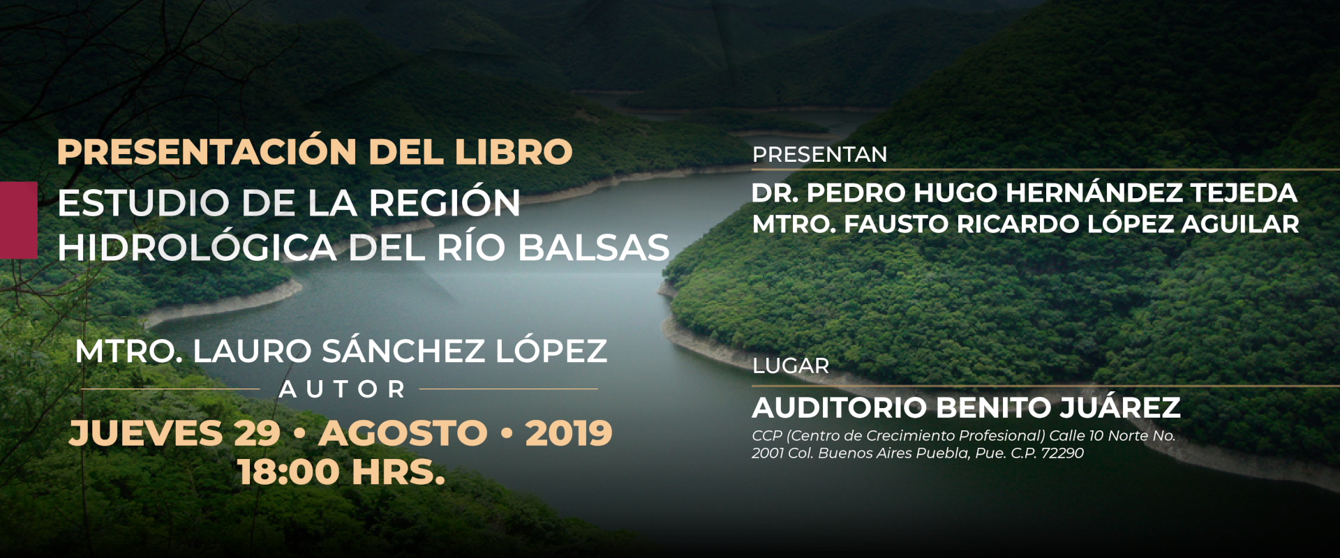 Presentación del libro: Estudio de la Región Hidrológica del Río Balsas.