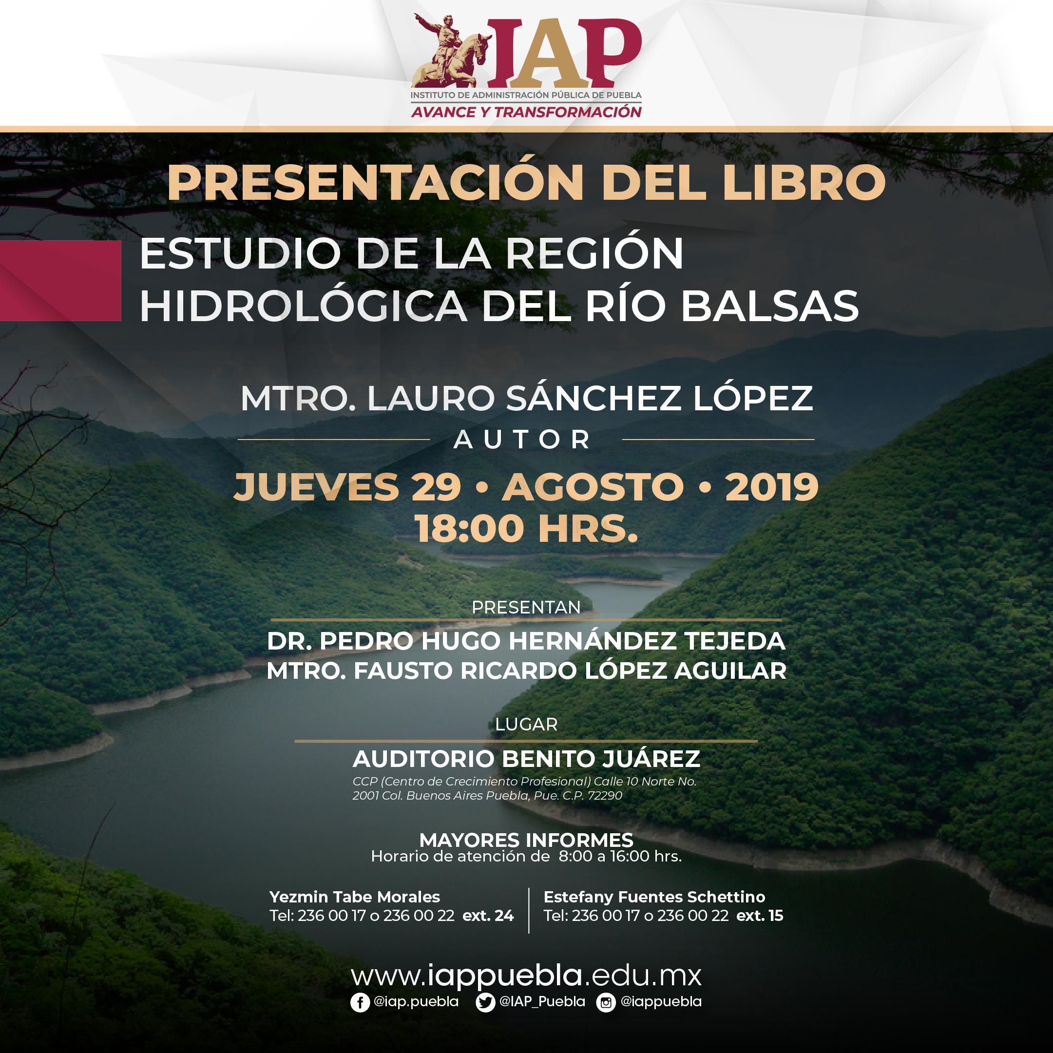 Presentación del libro: Estudio de la Región Hidrológica del Río Balsa