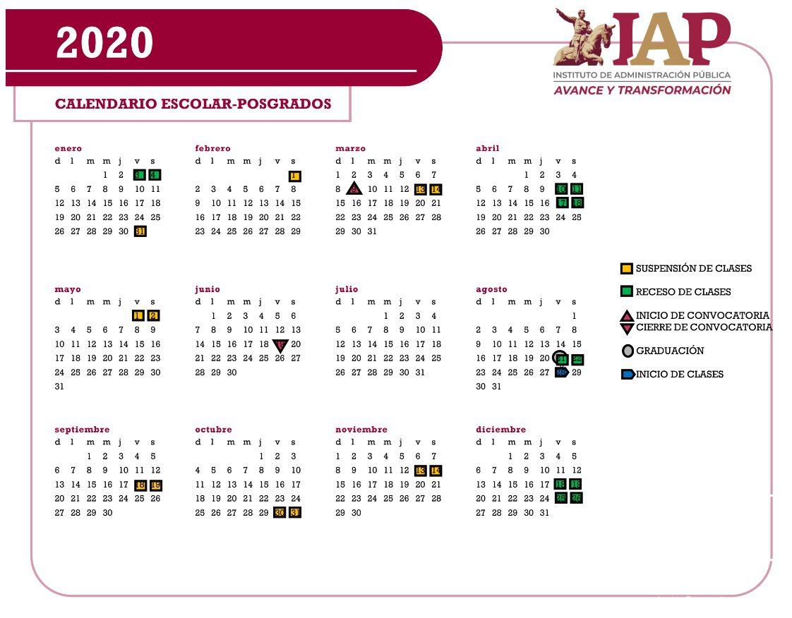 Calendario Escolar Posgrados