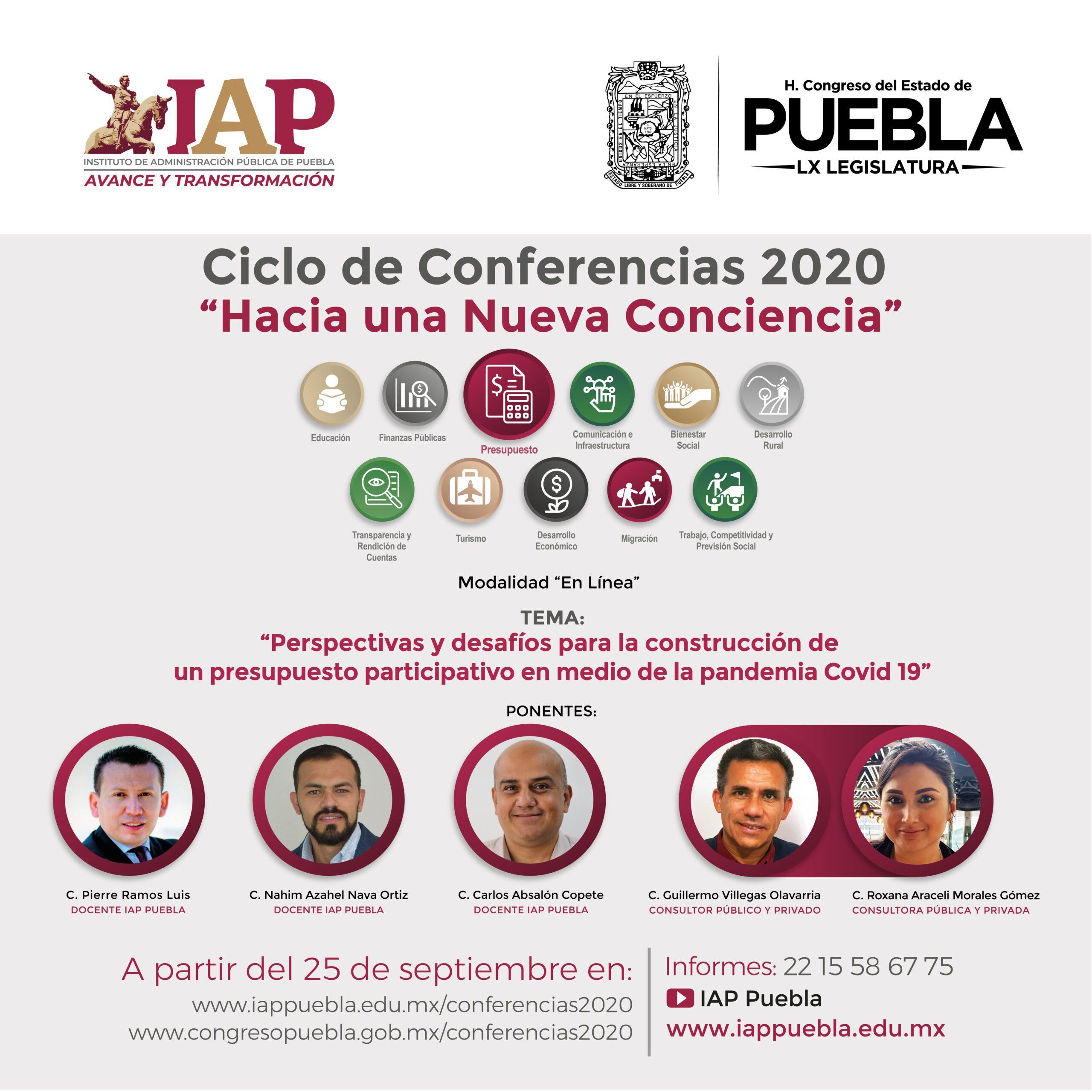Ciclo de Conferencias 2020 Hacia una nueva conciencia