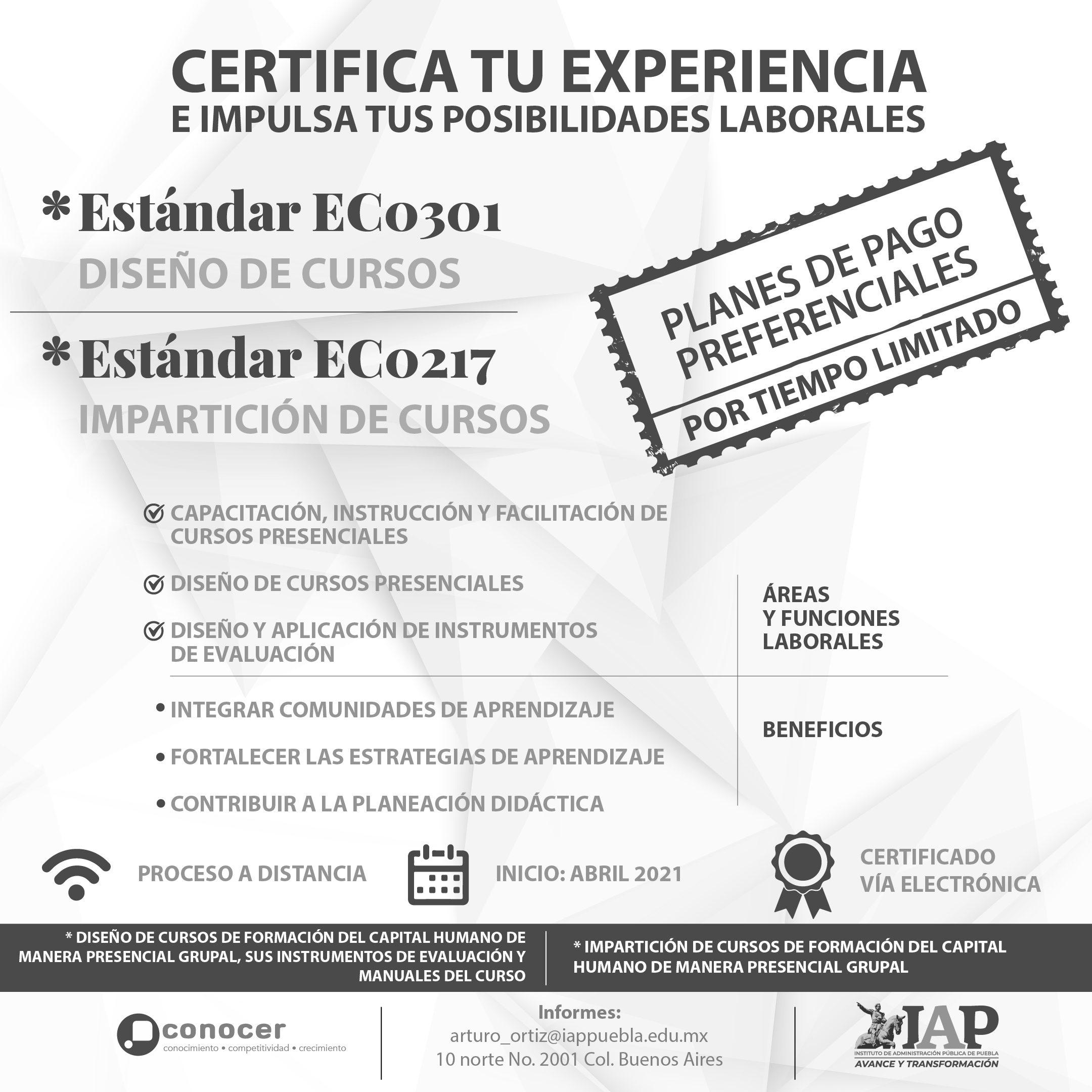 Estándar de Competencia 0217 | Estándar de Competencia 0301