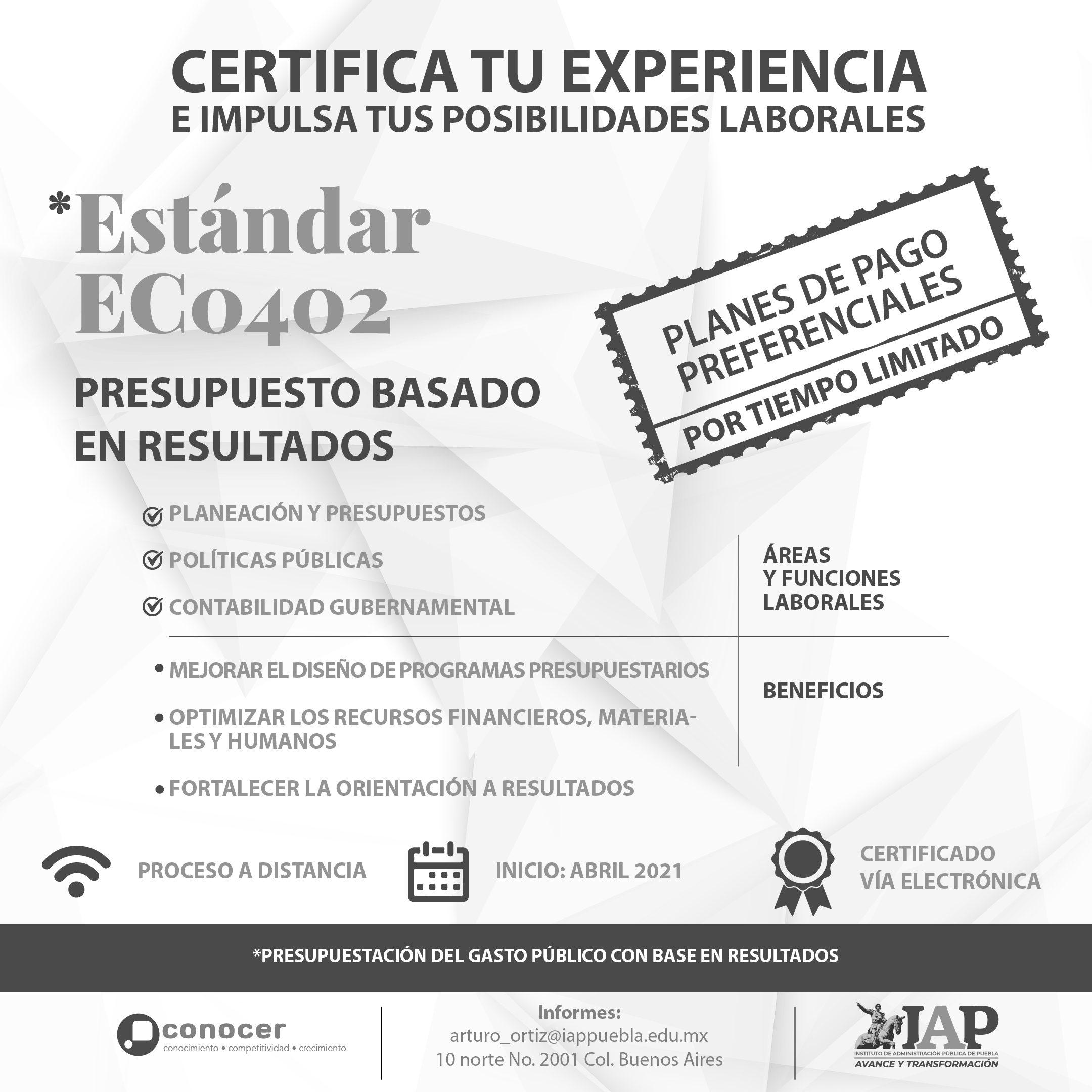Estándar de Competencia 0402