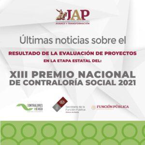 Resultado de la Evaluación de Proyectos en la Etapa Estatal del: XIII Premio Nacional de Contraloría Social 2021